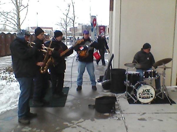 David Martin-guitar, Zack Lozier-trumpet, Mark Yannie-sax, Tom Lewis-bass, Mac Santiago-drums